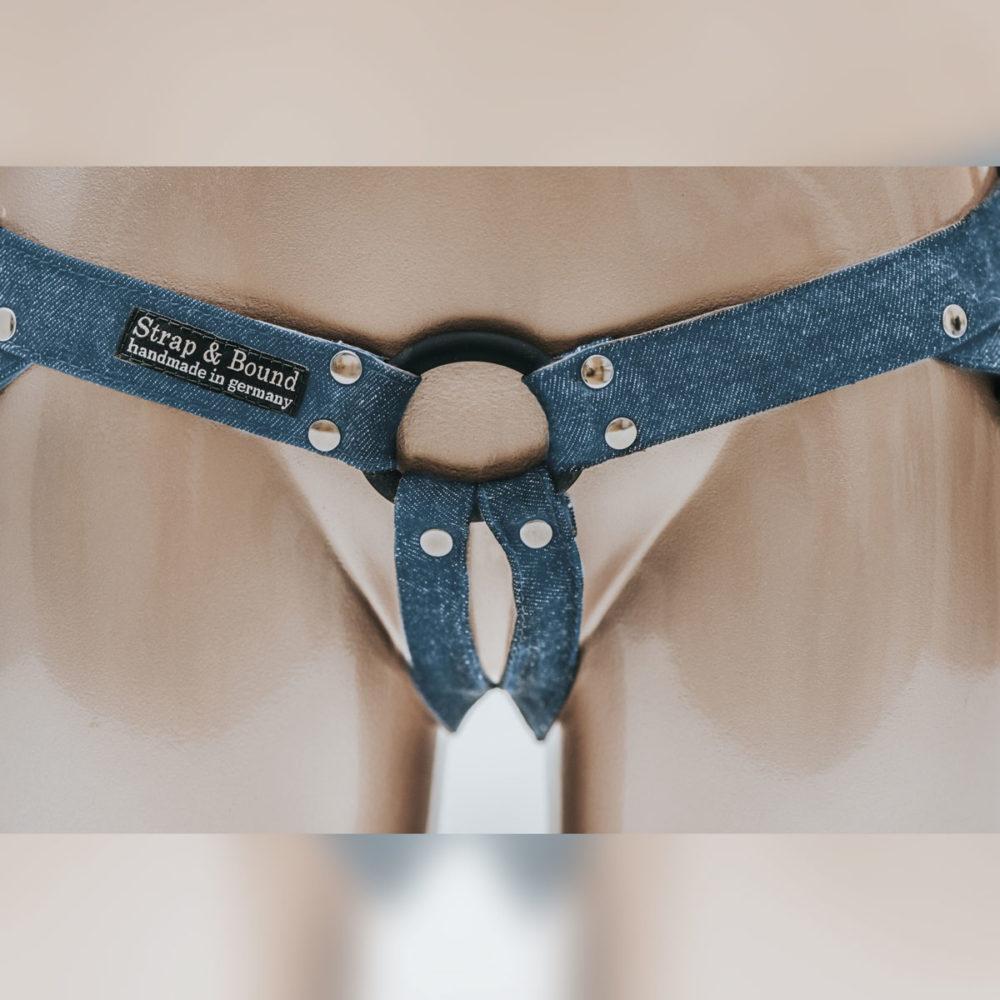 Uprząż strap-on Fun Factory do dild jeansowa jasna